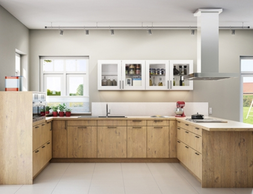 U Shaped Kitchen Design by Kitchenality
