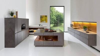 Kitchenality Kitchen Island Design Trends - Rempp Roca Grey