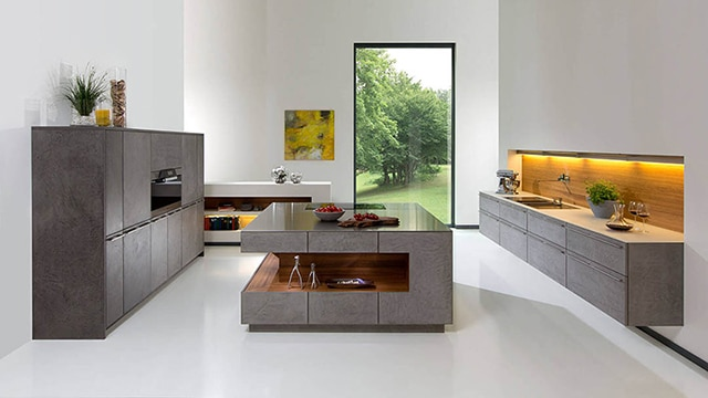 Kitchenality Kitchen Island Design Trends - Rempp Roca Grey