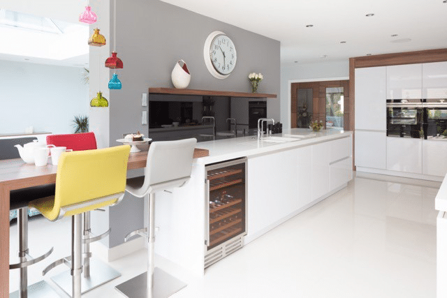 White Kitchen Fit Out