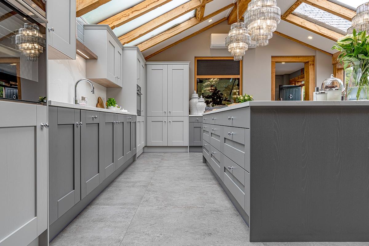 grey shaker style kitchen